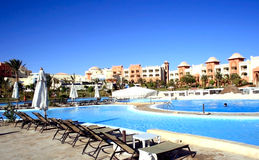 Resort in hotel Makadi bay. Stock Photos
