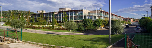 Resort hotel modern exterior in Italy Royalty Free Stock Photography
