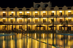 Resort hotel at night Stock Image