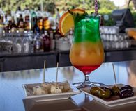 Resort of Hotel Paracas / Hotel Libertador. A cocktail at  the Resort of Hotel Paracas / Hotel Libertador royalty free stock images