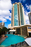 Resort Hotel Pool. Tropical pool in a Gold Coast resort hotel Royalty Free Stock Photos