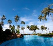 Resort hotel pool Royalty Free Stock Photos