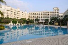 Resort hotel in sanya. Bay,Hainan Island, China royalty free stock photos