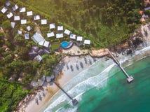 Resort Hotel at Thailand Sea at Trat Stock Image