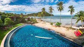 Resort Hotel at Thailand Sea at Trat Royalty Free Stock Photo