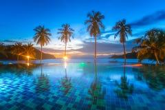 Resort Hotel at Thailand Sea at Trat Stock Photo