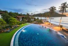 Resort Hotel at Thailand Sea at Trat Royalty Free Stock Image