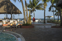 Resort hotel on Zanzibar Island Royalty Free Stock Images