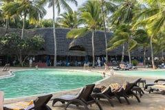 Resort hotel on Zanzibar Island Royalty Free Stock Photos