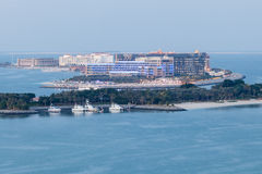 Resort hotels at the Arabian Gulf coast Royalty Free Stock Photography