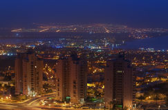 Resort hotels in Eilat. Eilat is one of the famous resorts in Middle East Stock Photo