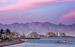 Resort hotels in Eilat. Eilat is one of the famous resorts in Middle East Stock Photography
