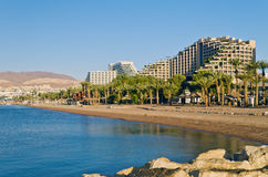 Resort hotels in Eilat, Israel Royalty Free Stock Photo