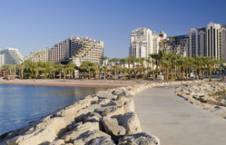 Resort hotels in Eilat, Israel Royalty Free Stock Images