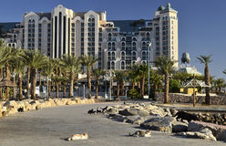 Resort hotels in Eilat, Israel Royalty Free Stock Photos