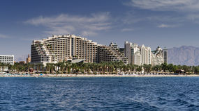 Resort hotels in Eilat, Israel Stock Images