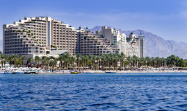 Resort hotels in Eilat, Israel Royalty Free Stock Image