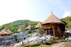 Resort hut in thailand. Royalty Free Stock Images