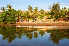 Mandrem beach Goa India. Resort huts on Mandrem beach in north Goa, India Stock Photos