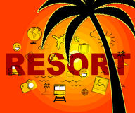 Resort Icons Means Symbol Complex And Hotels Stock Images