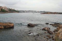 In resort of Illetes in fall. Palma-de-Majorca, Spain Royalty Free Stock Images