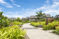 Resort Intercontinental Hotel, Fiji. Path to the rooms, Suites or villas in  Intercontinental Fiji Golf Resort & Spa, Fiji Stock Photography