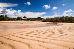 Resort island at low tide Royalty Free Stock Photography