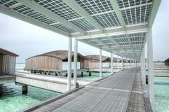 Resort island at the Maldives Royalty Free Stock Photo