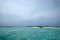 Resort island at the Maldives. Club Med Finolhu at the Maldives Royalty Free Stock Photo