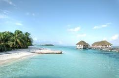 Resort island at the Maldives Royalty Free Stock Photography