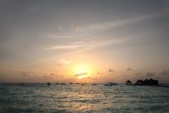 Resort island at the Maldives Stock Photography