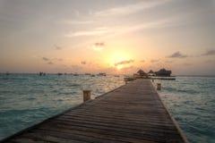 Resort island at the Maldives Royalty Free Stock Images