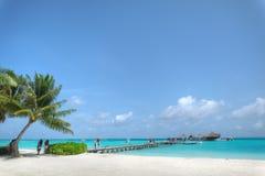 Resort island at the Maldives. Club Med Kani at the Maldives Royalty Free Stock Image