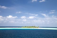 Resort island of Republic of Maldives Stock Photography