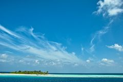 Resort island of Republic of Maldives Royalty Free Stock Photography