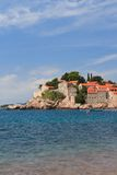 Resort island of Sveti Stefan in Montenegro Stock Photography
