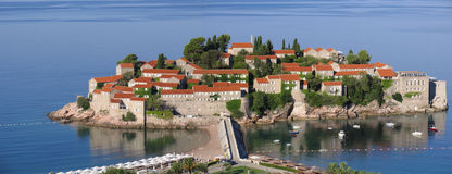 Resort Island Of Sveti Stefan. Montenegro Stock Photos