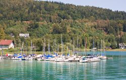 Resort Krumpendorf am Worthersee and Lake Worth . Austria Stock Photo