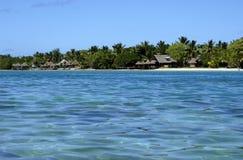 Resort and lagoon stock photography
