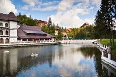 Resort and lake Stock Photo