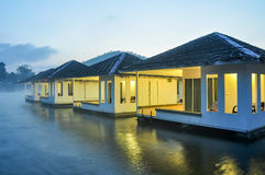 Resort in the lake with nature background Royalty Free Stock Images