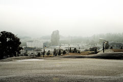 Resort Landscape Cover in snow Royalty Free Stock Photography