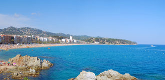 The resort of Lloret de Mar in Spain. Panorama of the resort of Lloret de Mar in Spain Royalty Free Stock Photos