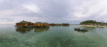 Mabul Island Panorama (XXXL) Royalty Free Stock Images