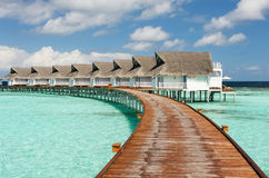 The resort on Maldives Stock Image