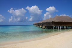 Resort on Maldives Royalty Free Stock Images