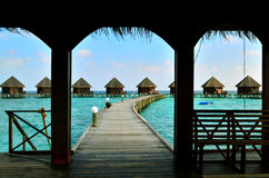 Resort in Maldives Royalty Free Stock Photos