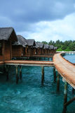 The resort in maldives Royalty Free Stock Photo