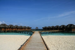 The resort in maldives Royalty Free Stock Images