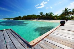 Resort maldivian houses Stock Images